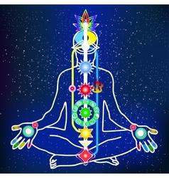 energy scheme human body vector image