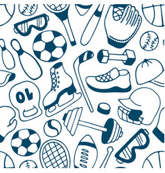 Equipment for winter and summer sports seamless vector