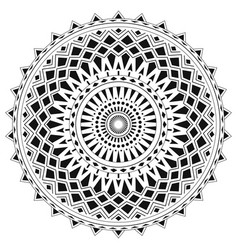 Ethnic mandala from simple shapes isolated on vector