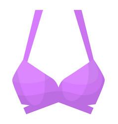 Feminine sport bra isolated on white background vector