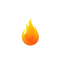 Fire logo icon design vector