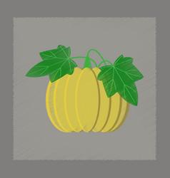 Flat shading style plant cucurbita vector