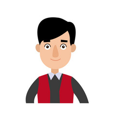 funny cartoon guy in formal clothes gesturing vector image