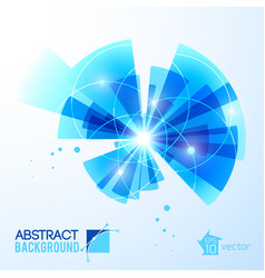 futuristic blue rays background vector image