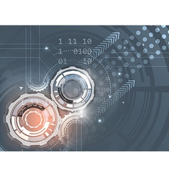 Gears on abstract background vector