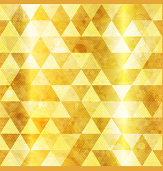 gold triangles seamless pattern vector image