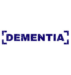 grunge textured dementia stamp seal between vector image