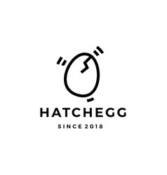 hatch egg logo icon vector image