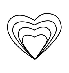 heart love valentines card vector image