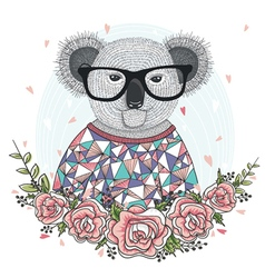 hipster koala 380 vector image