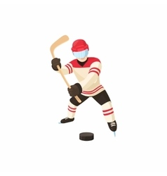 Hockey player icon cartoon style vector image