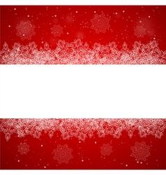 Horizontal red Christmas banner vector