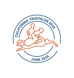 icons for triathlon and other spot events vector image