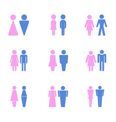 icons with male and female toilet signs vector image