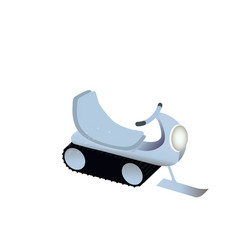 Image of a snowmobile vector