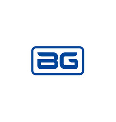 Initial bg logo template vector