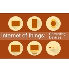 IoT - Controlling Devices Icons vector
