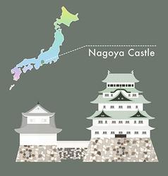 Japan Castle Nagoya vector