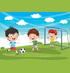 kidsfootball2 vector image