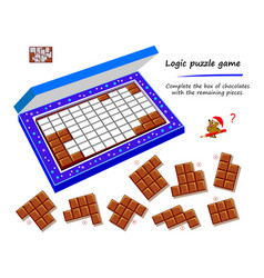 Logic puzzle game for children and adults vector
