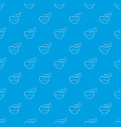 love potion pattern seamless blue vector image