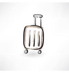 luggage grunge icon vector image