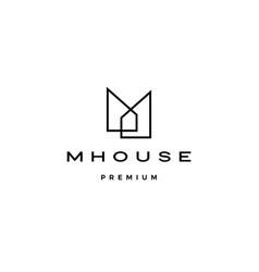 M house logo icon vector