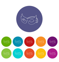 mask icons set color vector image