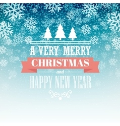 Merry christmas handwritten text on background vector image