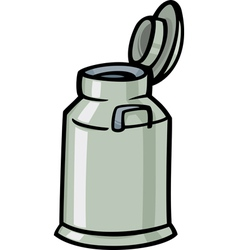 milk can or churn cartoon clip art vector image