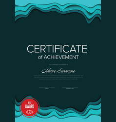modern certificate template vector image