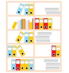 Office cupboard vector