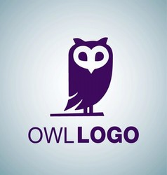 OWL LOGO 8 vector image