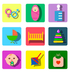 perfect detailed baby icons made in vector image