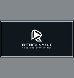 r roll film logo vector image