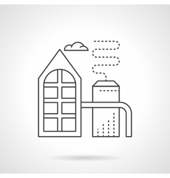 Refinery plant flat line icon vector image