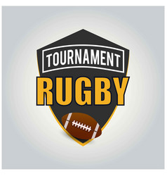 rugby tournament logo american logo sport vector image