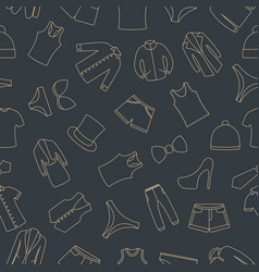 seamless pattern from a set of clothes icons vector image