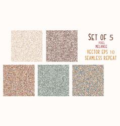 Seamless pattern pixel melange marl texture blend vector