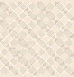 seamless pattern with light beige rhombuses vector image