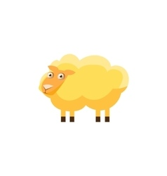 Sheep Simplified Cute vector image