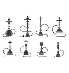 Silhouette hookah shisha turkish aroma lifestyle vector