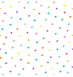 simple seamless pattern with colorful squares vector image