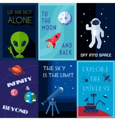 Space Poster Set vector image