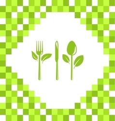 Symbol of Vegetarian Food vector