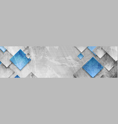 tech squares on abstract grunge corporate banner vector image