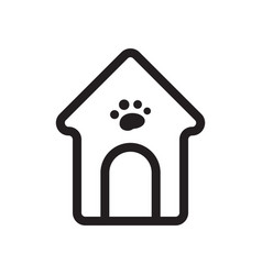 Thin line dog house icon vector