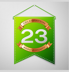 Twenty three years anniversary celebration design vector