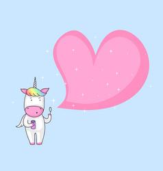 unicorn blowing soap bubble vector image