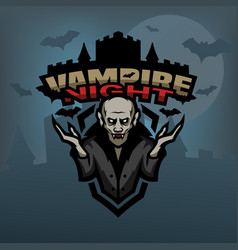 vampire against the background of the castle vector image
